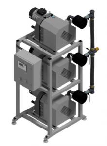 Bezolejowa pompa kłowa CPAP 3x155 3x315 Triplex DVP