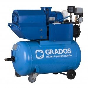 GRV horizontal rotary vane compressor
