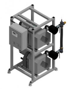 CPAP 2×155 DUPLEX Bezolejowa pompa kłowa DVP